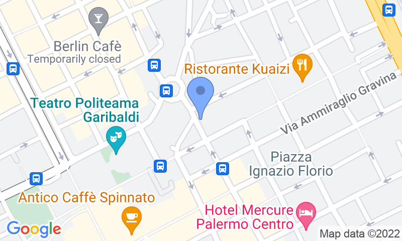 Localización del parking en el mapa - Reservar una plaza en el parking Tumminello Via Roma