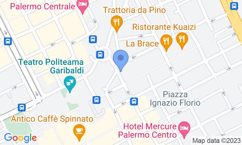Localizzazione del parcheggio sulla mappa - Prenota un posto nel parcheggio Tumminello Via Roma