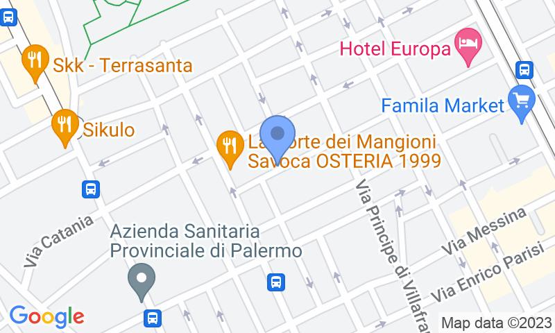 Localización del parking en el mapa - Reservar una plaza en el parking AC Agrigento