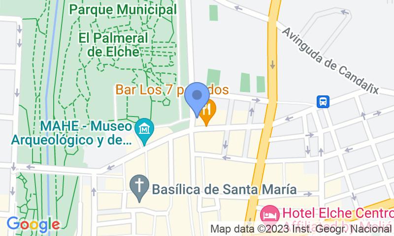 Localizzazione del parcheggio sulla mappa - Prenota un posto nel parcheggio SABA Traspalacio