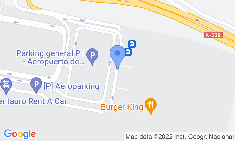 Emplacement du parking sur la carte - Réservez une place dans le parking Aeroparking Alicante - Servicio VALET
