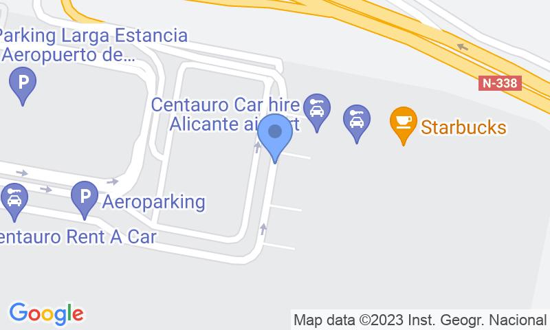 Parking location in the map - Book a parking spot in Aeroparking Alicante - Servicio VIP car park