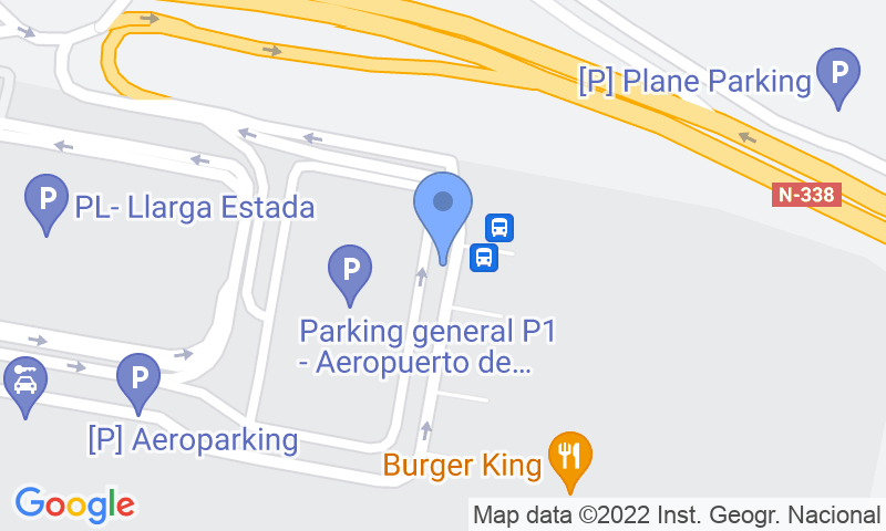 Parking location in the map - Book a parking spot in Autos Pablo Alicante Airport - Valet - Descubierto car park