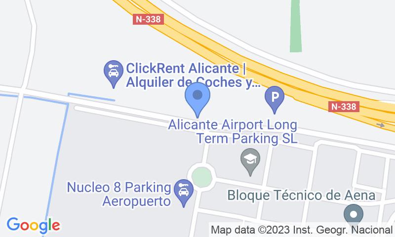 Localización del parking en el mapa - Reservar una plaza en el parking WePark - ALC descubierto