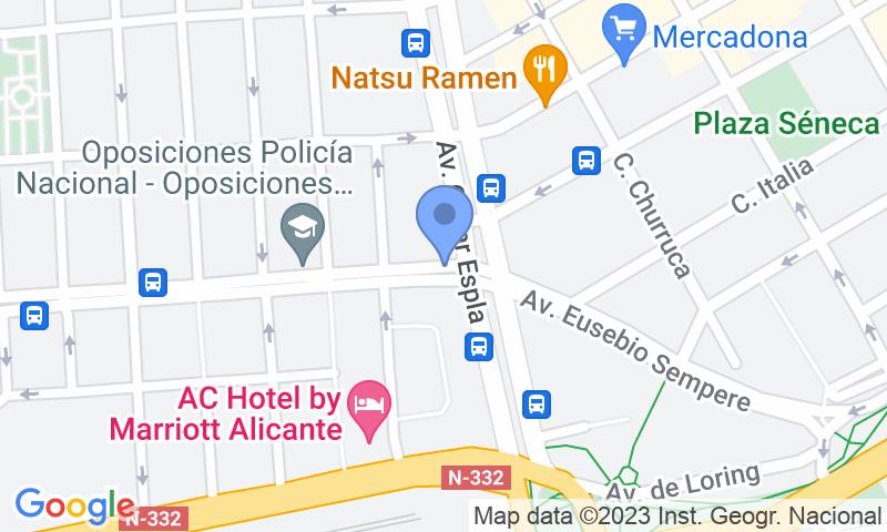 Localizzazione del parcheggio sulla mappa - Prenota un posto nel parcheggio Catedrático Soler