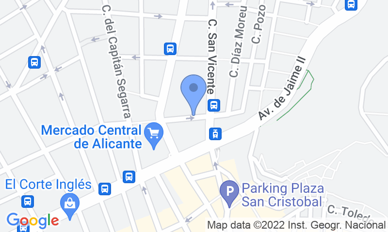 Localizzazione del parcheggio sulla mappa - Prenota un posto nel parcheggio IC- Vicente Inglada
