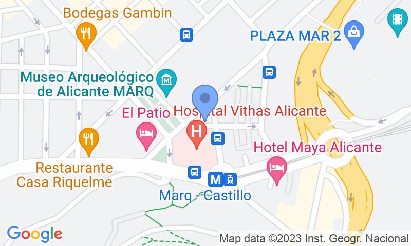 Localización del parking en el mapa - Reservar una plaza en el parking López Osaba