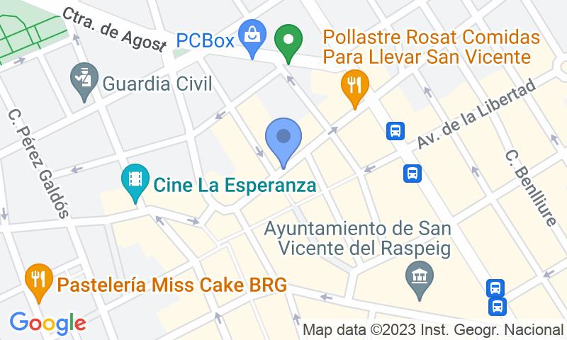 Localización del parking en el mapa - Reservar una plaza en el parking Mercado de San Vicente