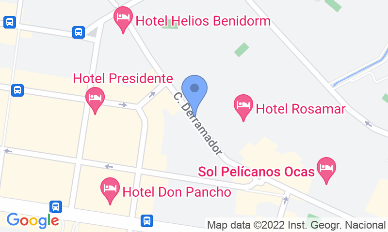 Parking location in the map - Book a parking spot in Avda del Derramador car park