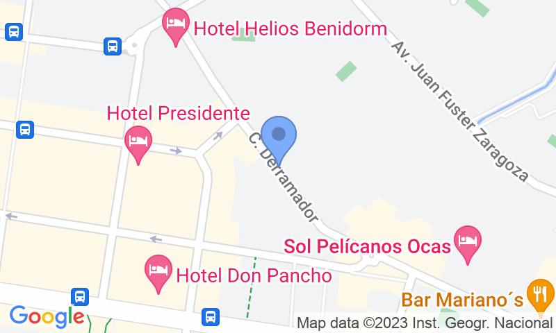 Localizzazione del parcheggio sulla mappa - Prenota un posto nel parcheggio Avda del Derramador