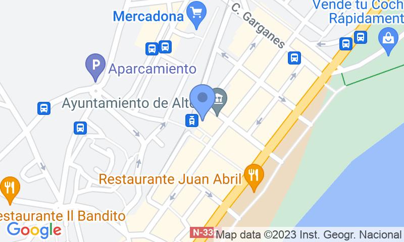 Localización del parking en el mapa - Reservar una plaza en el parking Plaza del Ayuntamiento