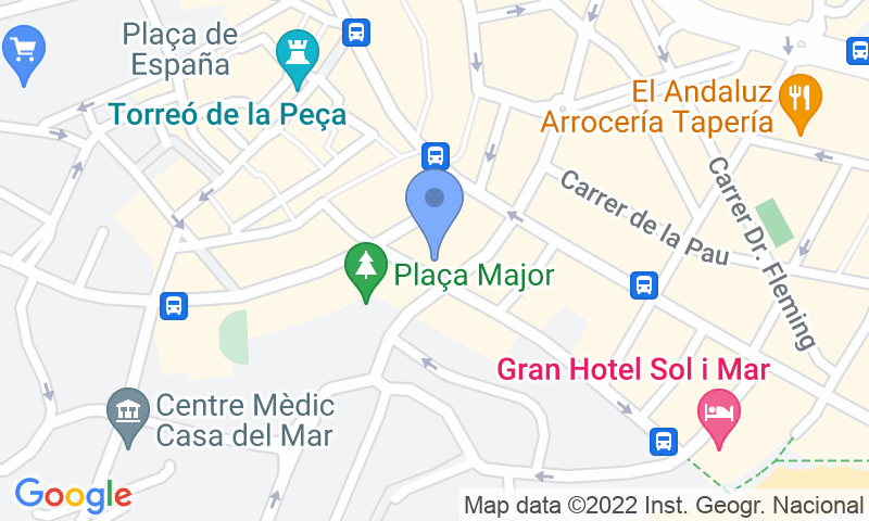 Parking location in the map - Book a parking spot in APK2 Plaza Mayor car park
