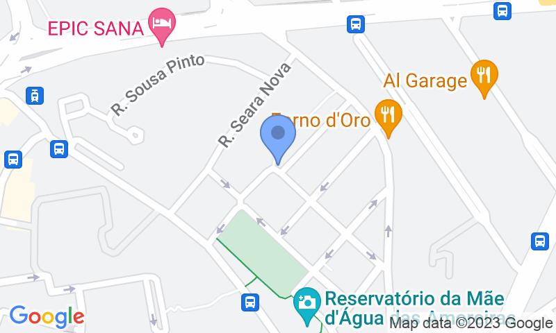 Emplacement du parking sur la carte - Réservez une place dans le parking Placegar Parque Pâteo Bagatela
