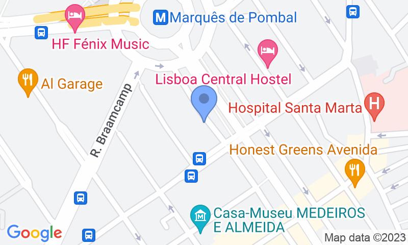 Localizzazione del parcheggio sulla mappa - Prenota un posto nel parcheggio Placegar Parque Liberdade