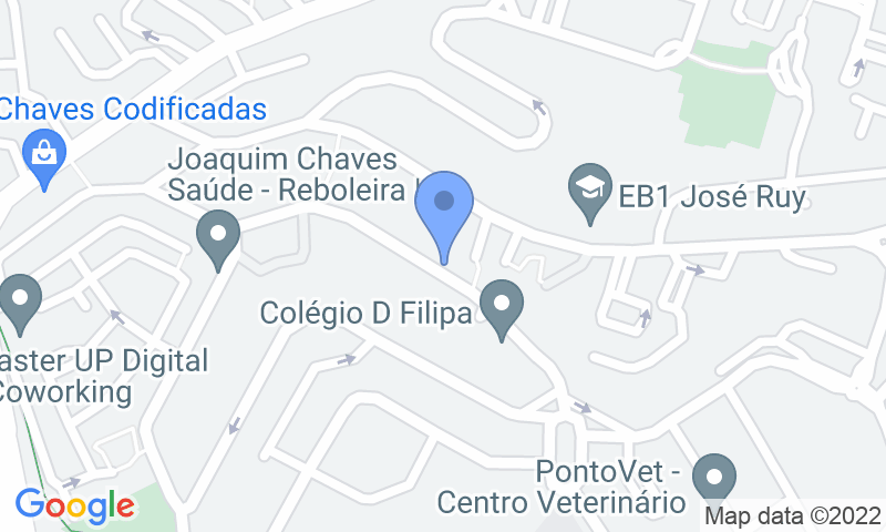 Parking location in the map - Book a parking spot in Placegar Parque Clínica Santo António da Amadora car park