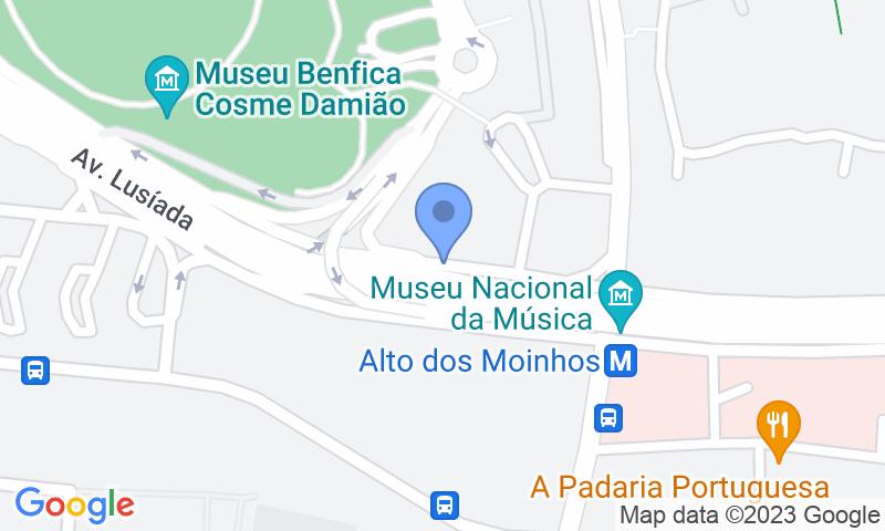 Parking location in the map - Book a parking spot in Parque P8 Alto dos Moinhos car park