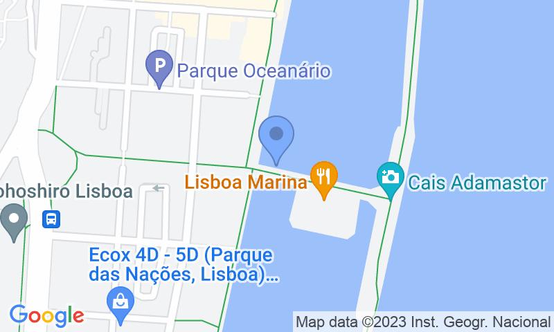 Parking location in the map - Book a parking spot in Placegar Marina - Parque das Nações car park