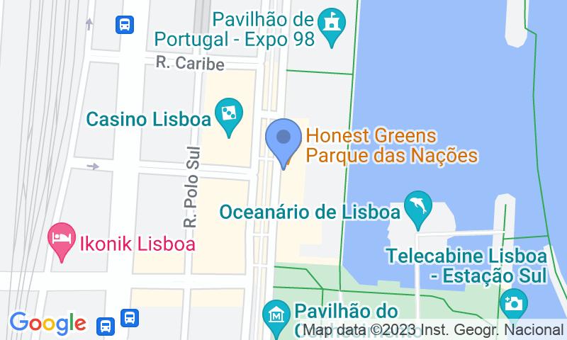 Localizzazione del parcheggio sulla mappa - Prenota un posto nel parcheggio Placegar Parque Doca das Nações