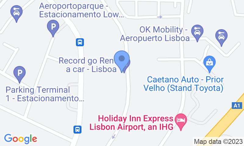 Localizzazione del parcheggio sulla mappa - Prenota un posto nel parcheggio Jetpark - Shuttle - Coberto