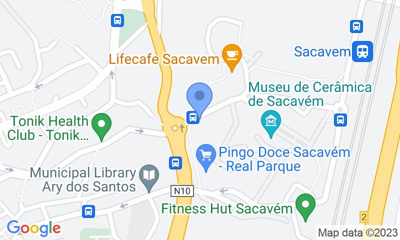 Localizzazione del parcheggio sulla mappa - Prenota un posto nel parcheggio Placegar Parque Clínica Lusíada Sacavém