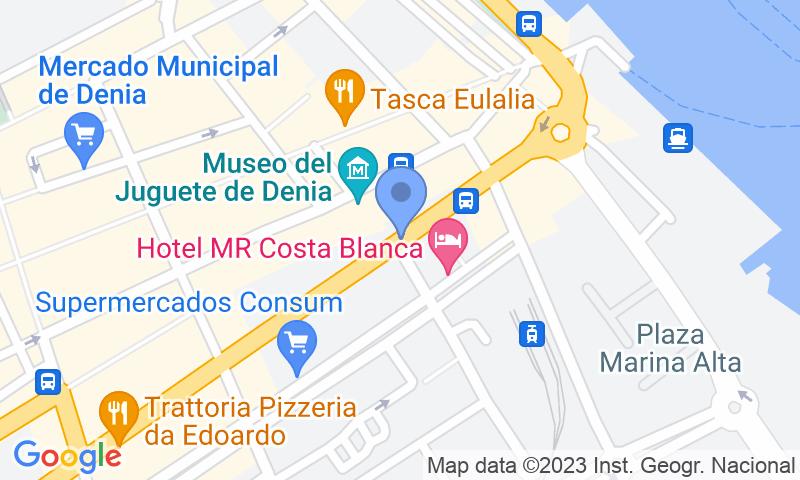 Localización del parking en el mapa - Reservar una plaza en el parking Denia - La Vía