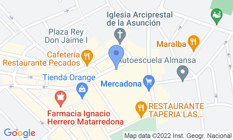 Parking location in the map - Book a parking spot in Rambla Centro car park