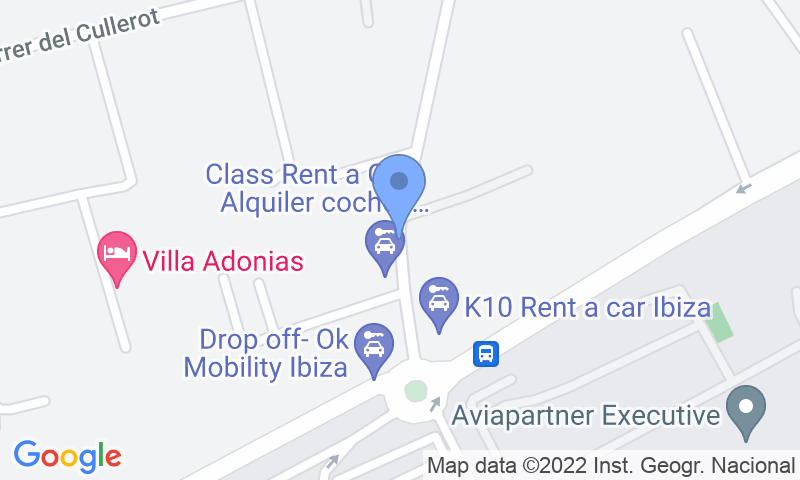 Расположение парковки на карте - Забронируйте паркоместо на стоянке Aeroparking Ibiza - Shuttle