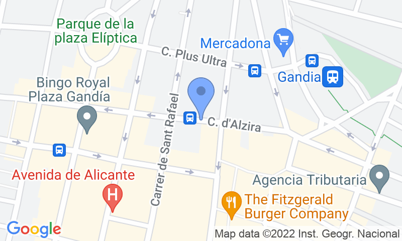 Localizzazione del parcheggio sulla mappa - Prenota un posto nel parcheggio Low-Cost Colón - Gandia