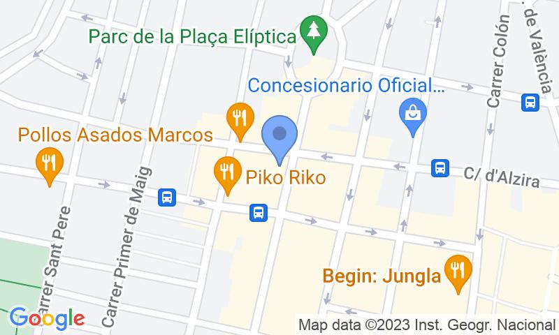 Parking location in the map - Book a parking spot in República Argentina car park