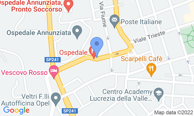 Parking location in the map - Book a parking spot in Saba Cosenza - Ospedale car park