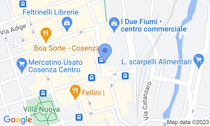Localització del parking al mapa - Reservar una plaça al parking Saba Cosenza - I Due Fiumi