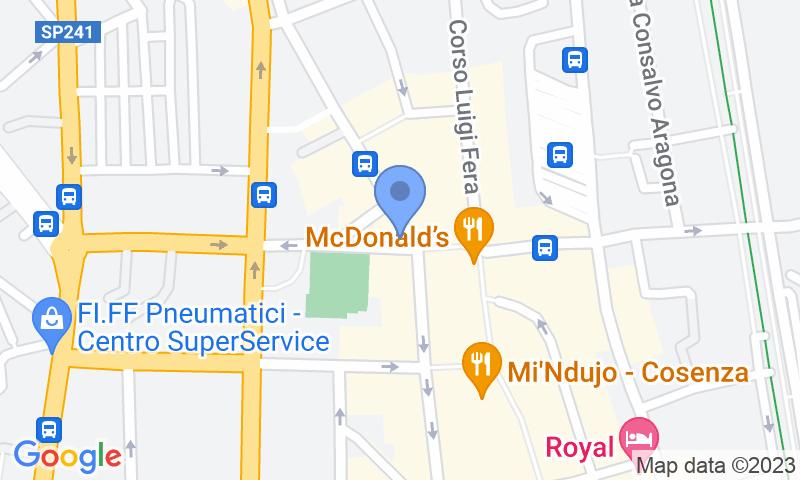 Parking location in the map - Book a parking spot in Quick Piazza Bilotti Cosenza car park