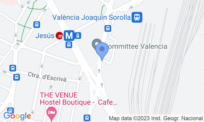 Localització del parking al mapa - Reservar una plaça al parking SABA ADIF Estación Valencia - Joaquín Sorolla Renfe