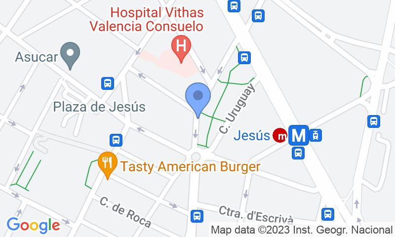 Localizzazione del parcheggio sulla mappa - Prenota un posto nel parcheggio APK2 Estación AVE - Jerónimo Muñoz