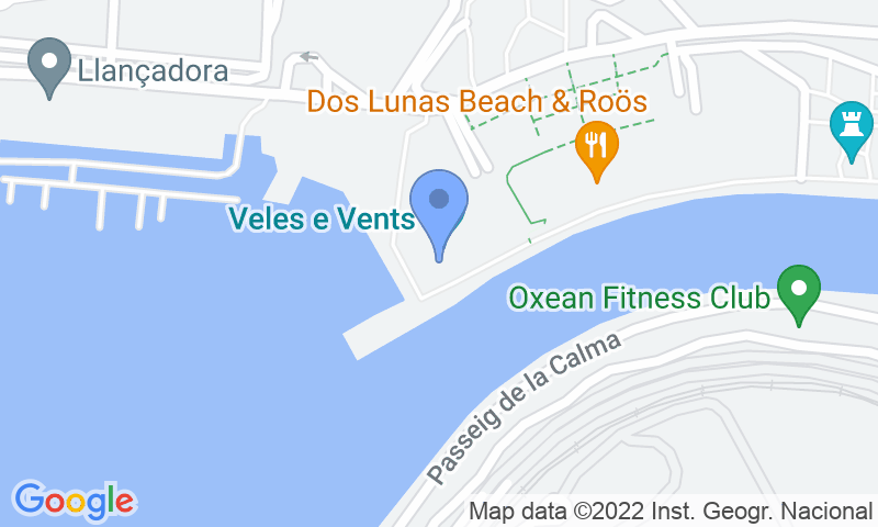 Parking location in the map - Book a parking spot in Oliveral Cruceros car park
