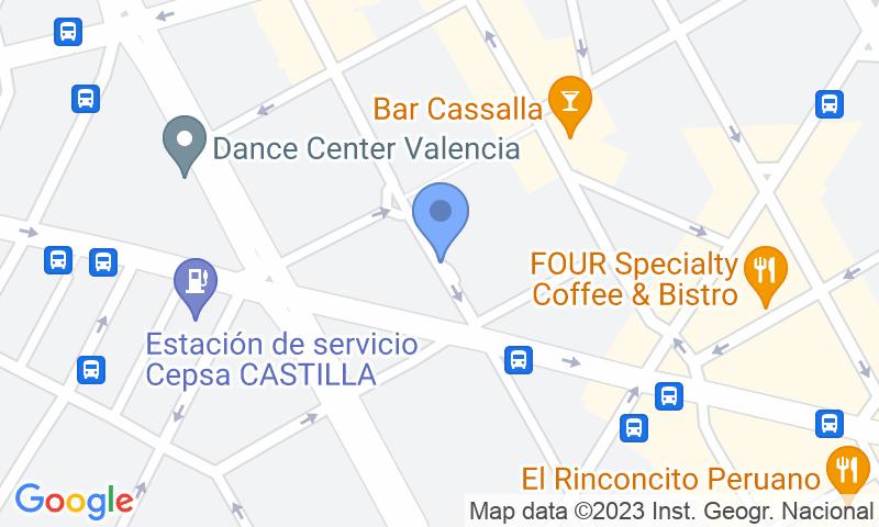 Localización del parking en el mapa - Parking en Abastos - Navarro Llorens Lubasa