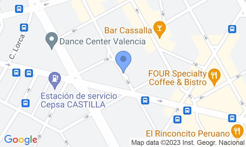 Lugar de estacionamento no mapa - Parking en Abastos - Navarro Llorens Lubasa