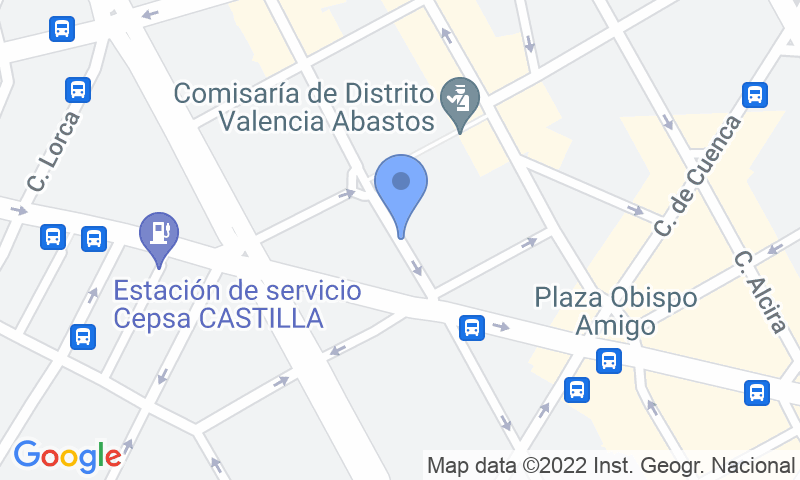 Localizzazione del parcheggio sulla mappa - Parking en Abastos - Navarro Llorens Lubasa