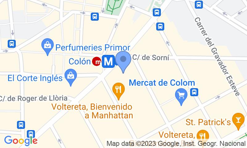 Localización del parking en el mapa - Reservar una plaza en el parking APK2 Colón 60