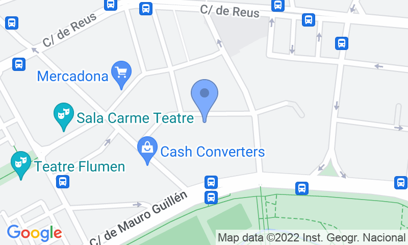 Localización del parking en el mapa - Reservar una plaza en el parking e-Parkings