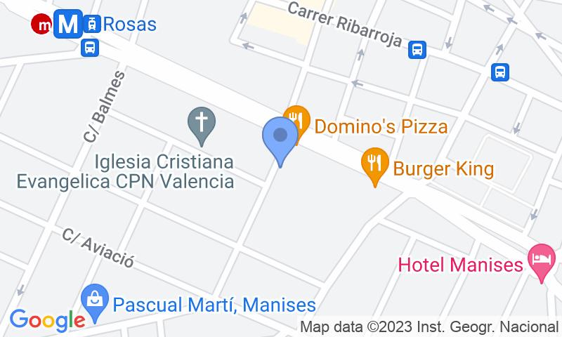Localització del parking al mapa - Parking Low cost VIP - Aeropuerto Valencia Manises
