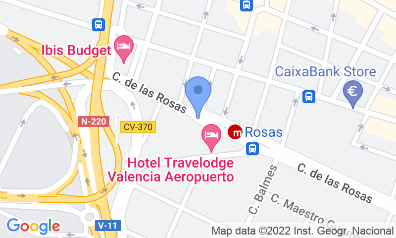 Lugar de estacionamento no mapa - Parking Low cost VIP - Aeropuerto Valencia Manises