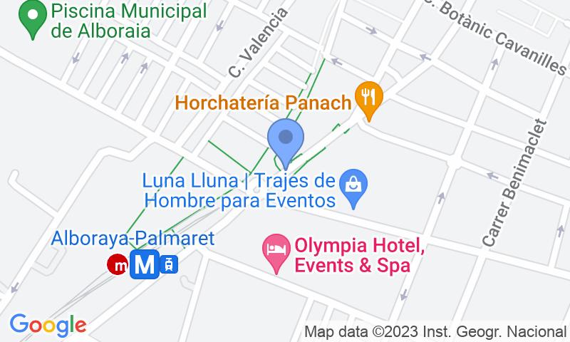 Localización del parking en el mapa - Reservar una plaza en el parking APK2 Avda. de l'Orxata