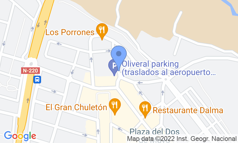 Parking location in the map - Book a parking spot in Oliveral - Plaza la Leña car park