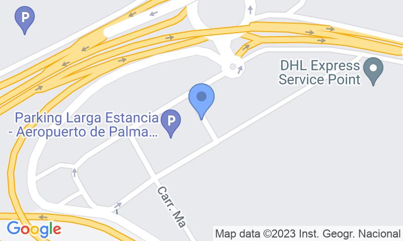 Localització del parking al mapa - Reservar una plaça al parking AENA Larga Estancia Palma