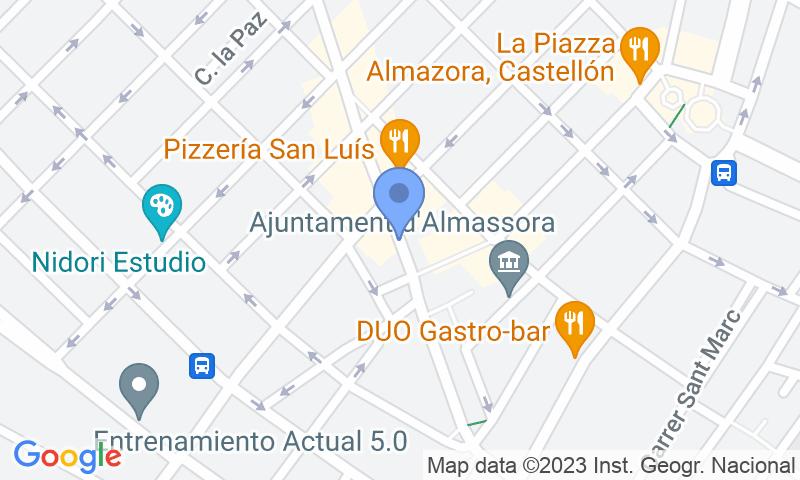 Localizzazione del parcheggio sulla mappa - Prenota un posto nel parcheggio APK2 Pere Cornell - Almassora