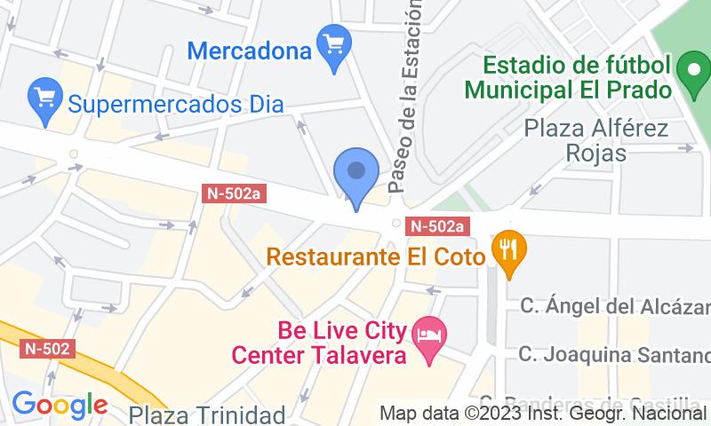 Localizzazione del parcheggio sulla mappa - Prenota un posto nel parcheggio IC - Aparcamiento PIO XII - Talavera