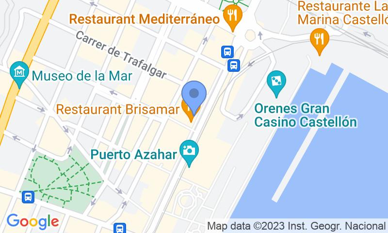 Localización del parking en el mapa - Reservar una plaza en el parking Puerto Azahar - El Grao de Castelló