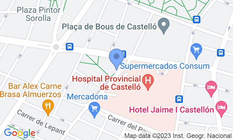Localizzazione del parcheggio sulla mappa - Prenota un posto nel parcheggio APK2 Hospital Provincial II