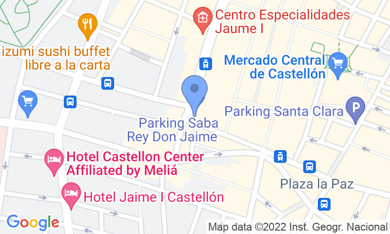 Lugar de estacionamento no mapa - Reserve uma vaga de  estacionamento no SABA Rei en Jaume